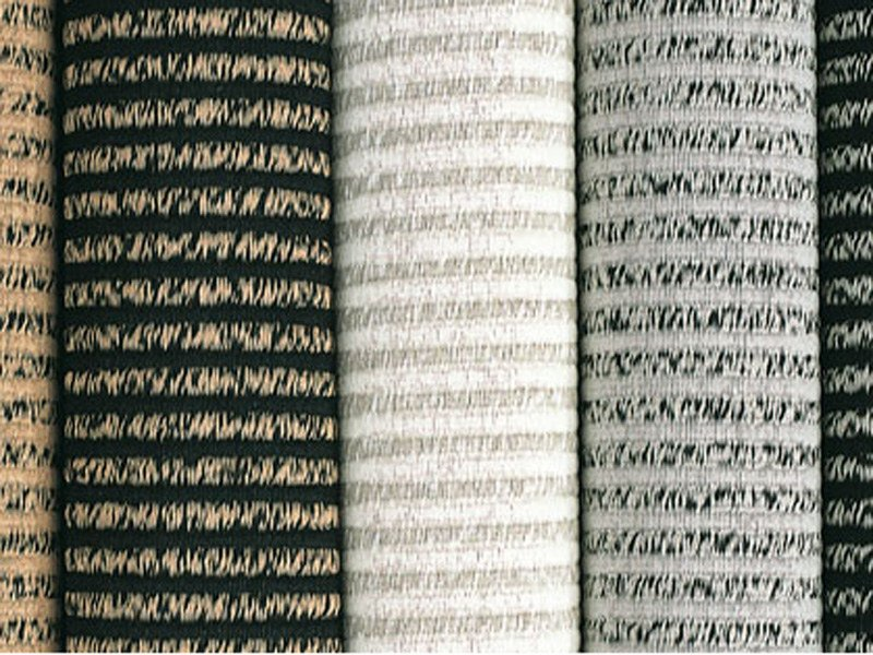Striped handmade rectangular rug FIELD by Woodnotes