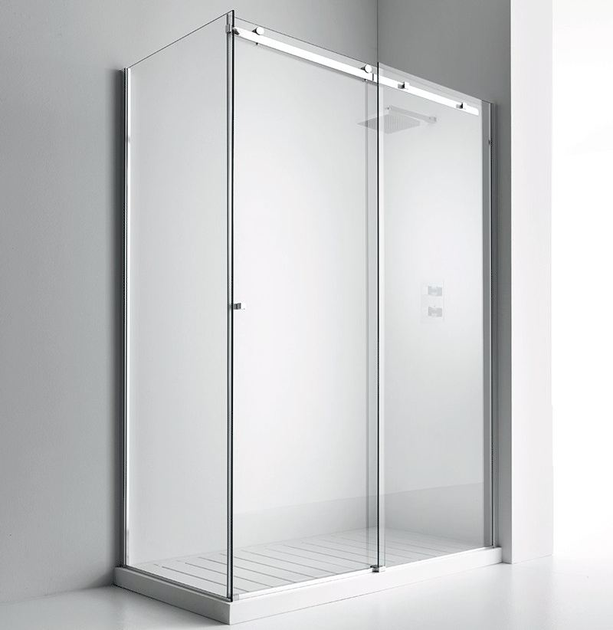 Shower cabin with sliding door AXIA SF + F1 by RELAX