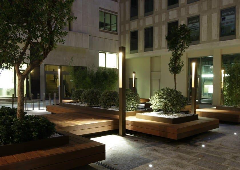 TETRA PARCO | Paletto luminoso per spazi illuminazione di piazze e spazi pubblici