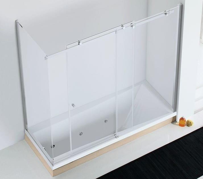 Crystal bathtub wall panel AXIA SF-V + F1-V by RELAX