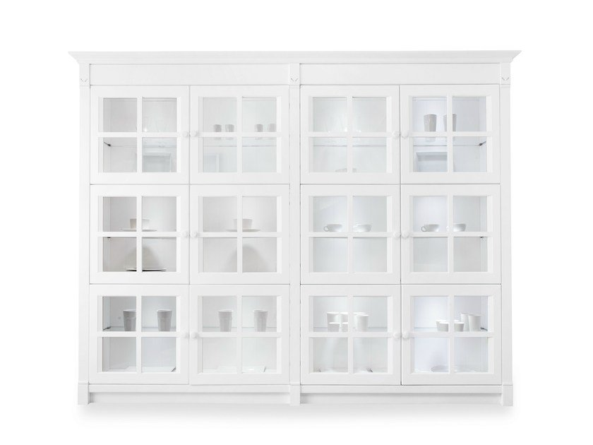 Wood and glass display cabinet ENGLISH MOOD | Display cabinet by Minacciolo