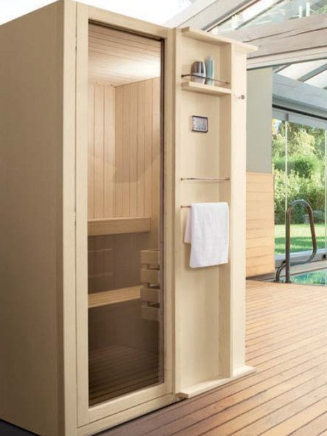 Finnish sauna TALÍA 120x127 by Gruppo Geromin