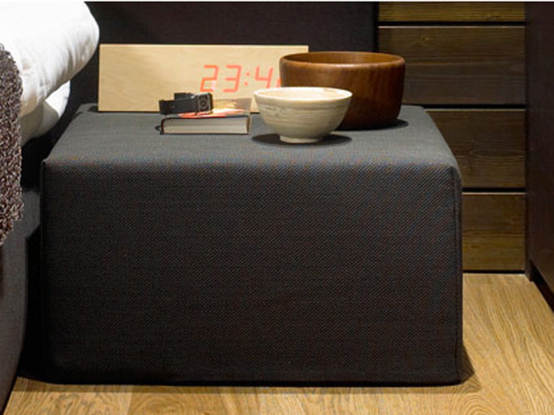 Upholstered fabric pouf COOL CUSHION by Woodnotes