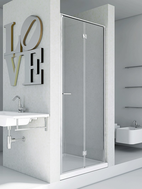 Niche shower cabin with hinged door LIGHT PS by RELAX