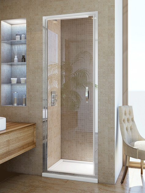 Niche shower cabin with hinged door STEAM B1 by RELAX