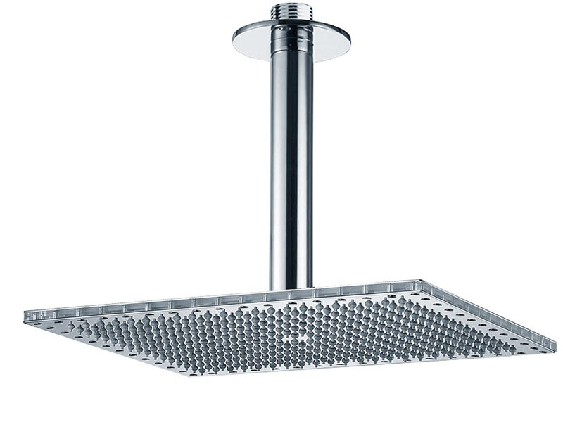 Ceiling mounted overhead shower with arm DREAM RECTANGULAR   Ceiling mounted overhead shower by Bossini