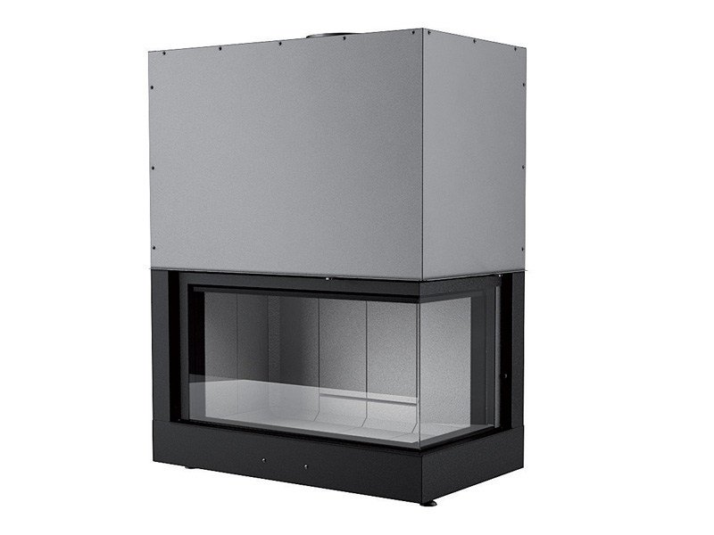 Double-sided Corner Boiler fireplace FORMA 75 DX/SX WOOD by MCZ GROUP