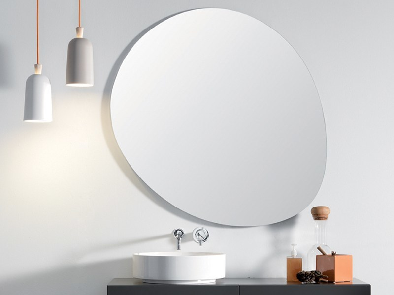 Wall-mounted bathroom mirror STONE by Ex.t