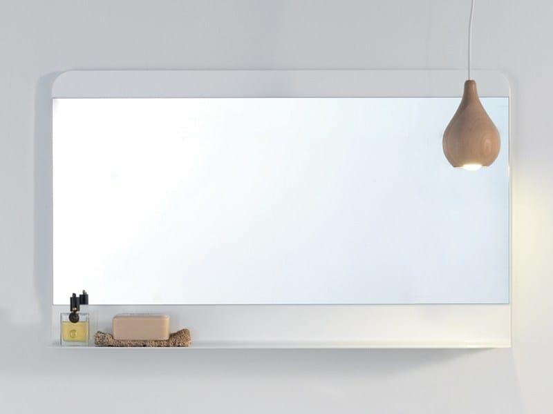 Wall-mounted bathroom mirror FOGLIO by Ex.t