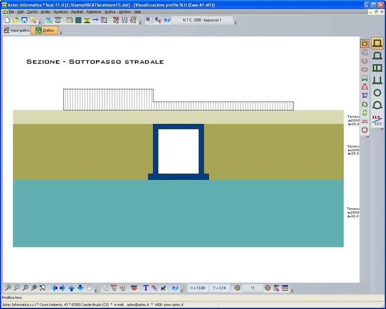 Boxed structure calculation SCAT by Aztec Informatica