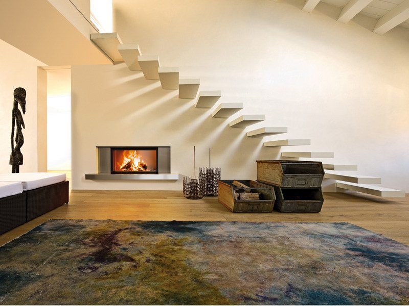 Stainless steel Fireplace Mantel GUTTUSO by MCZ GROUP