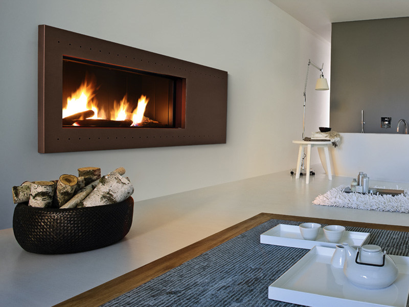Steel Fireplace Mantel DE CHIRICO by MCZ GROUP