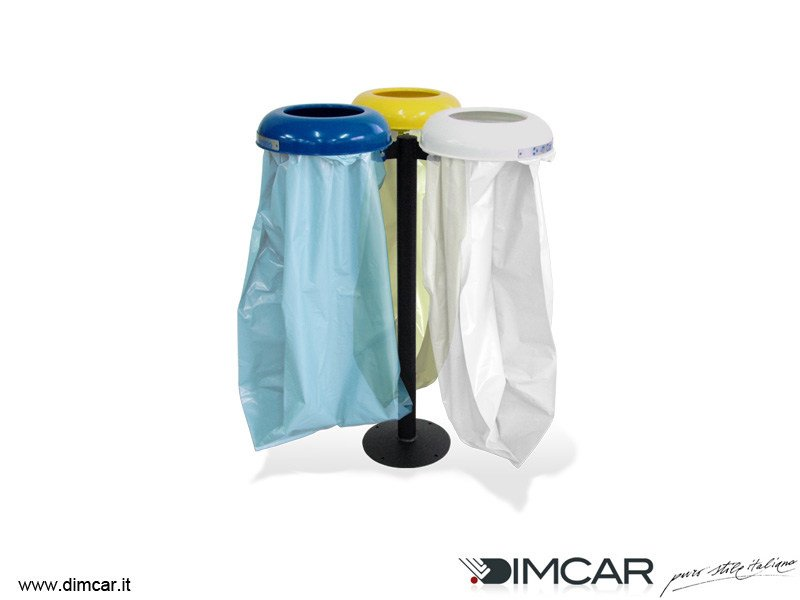 Outdoor metal litter bin for waste sorting Cestino Clean by DIMCAR