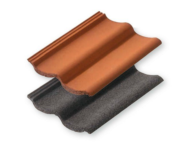 Concrete roof tile ASIMMETRICA by CEDA
