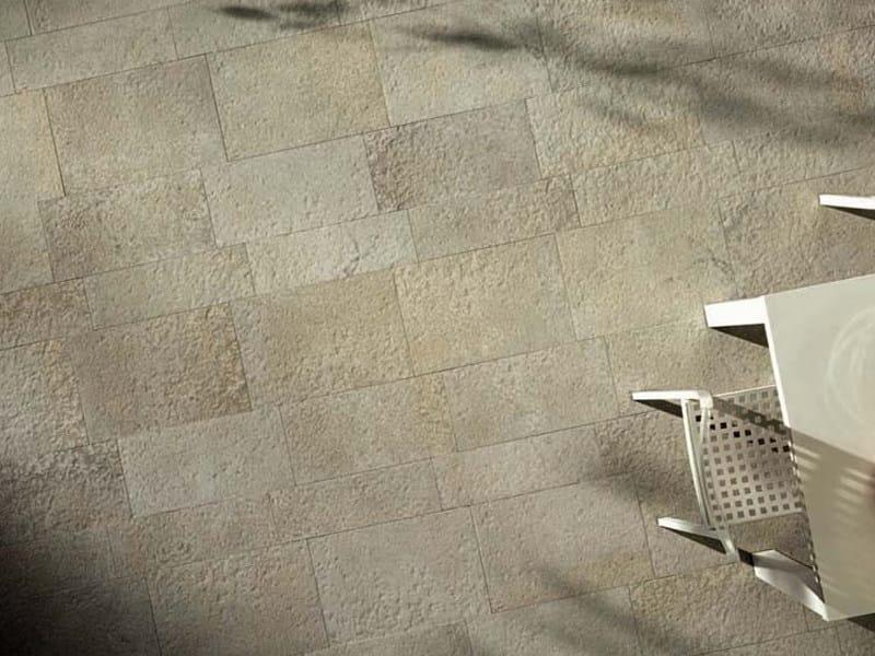 Rev tement de sol en gr s c rame effet pierre pour for Type de revetement de sol interieur