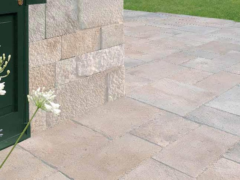 Outdoor reconstructed stone wall/floor tiles LITOLAND by SAS Italia