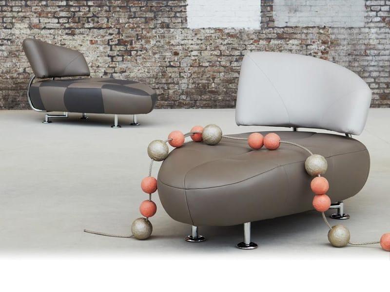 Leather armchair KIKKO by LEOLUX