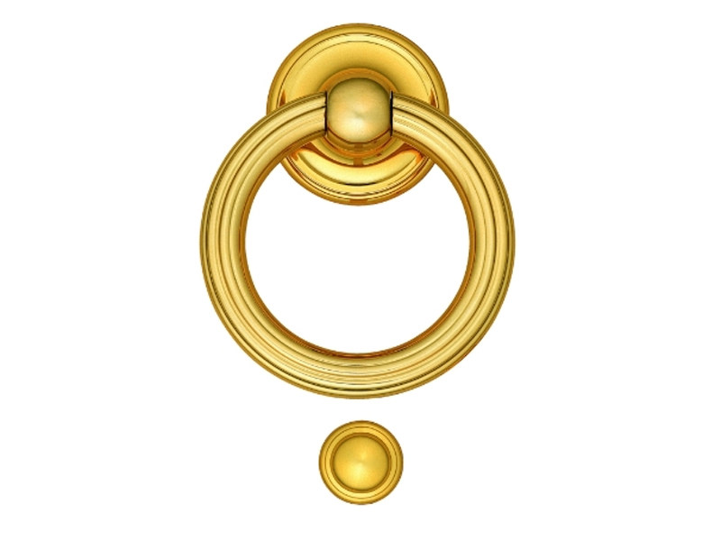 Classic style brass door knocker 698 | Brass door knocker by Enrico Cassina