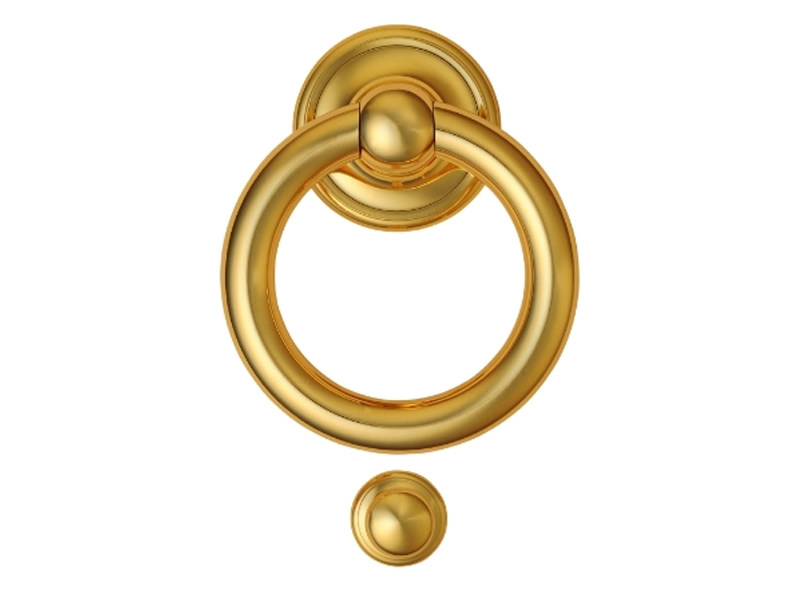 Classic style brass door knocker 701   Brass door knocker by Enrico Cassina