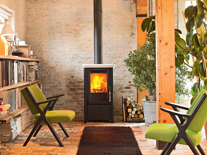 Wood-burning stove for air heating BAHR by MCZ GROUP