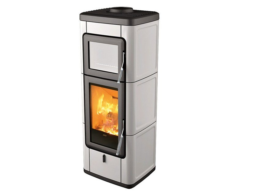 Wood-burning stove for air heating SAVA by MCZ GROUP