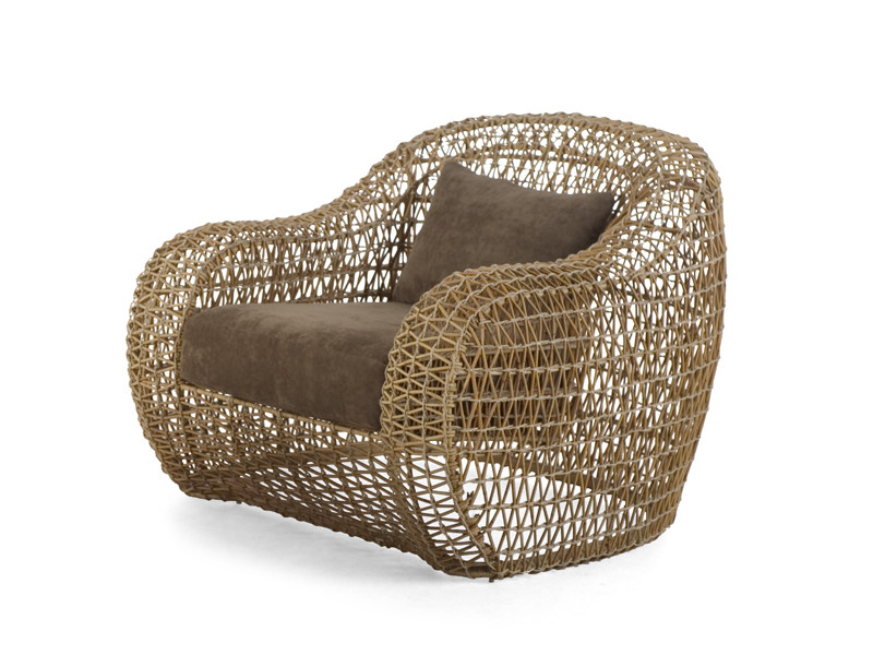 Garden armchair with footstool BALOU | Garden armchair by KENNETH COBONPUE