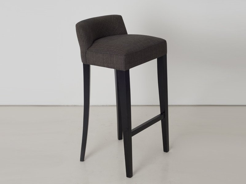 Upholstered fabric stool BARCELONE by INTERNI EDITION