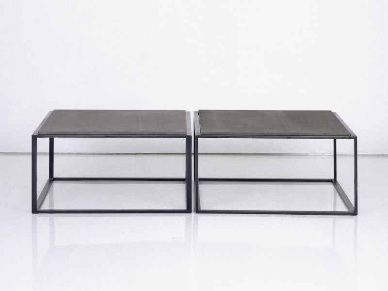 Steel coffee table CUBE P10/20 by INTERNI EDITION