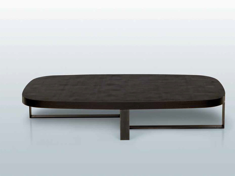 Oval wooden coffee table NEPAL   Coffee table by INTERNI EDITION