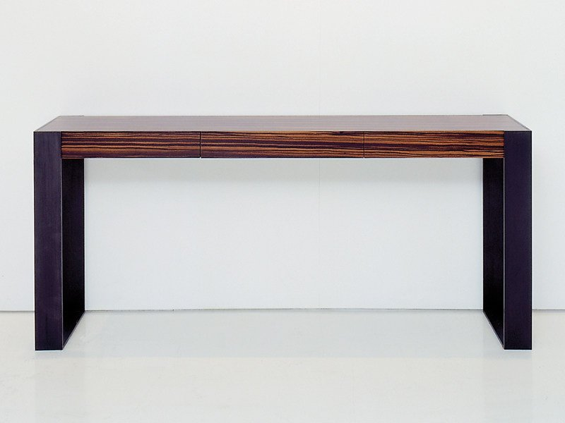 Rectangular wooden console table CONNECT | Console table by INTERNI EDITION