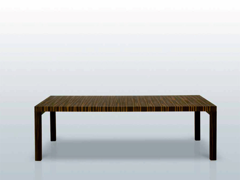 Wooden dining table CONTRARIO by INTERNI EDITION