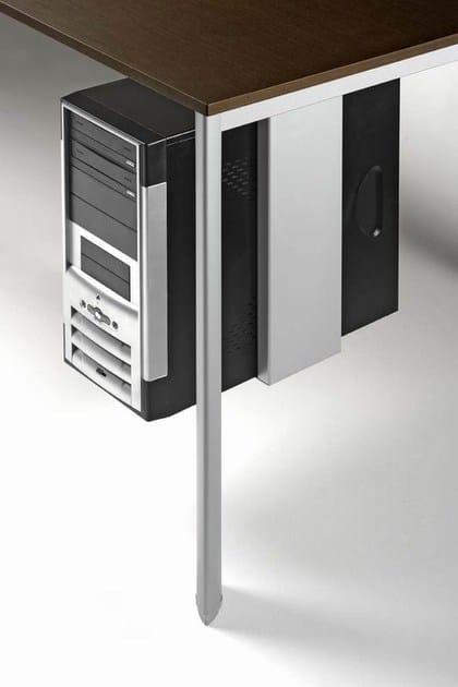 ONLINE3 Postazione di lavoro - Particolare porta CPU per scrivania, appendice o tavolo di servizio con fissaggio sotto il piano