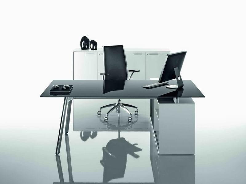 Rectangular executive desk with shelves OP | Executive desk by MASCAGNI