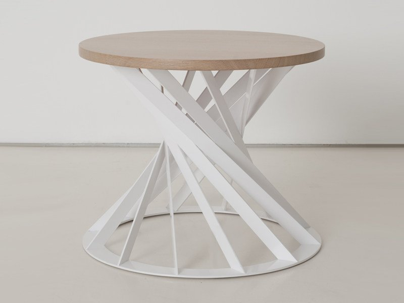 Round wooden coffee table TWIST | Coffee table by INTERNI EDITION
