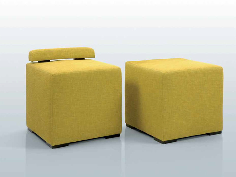 Upholstered fabric pouf POUF by INTERNI EDITION