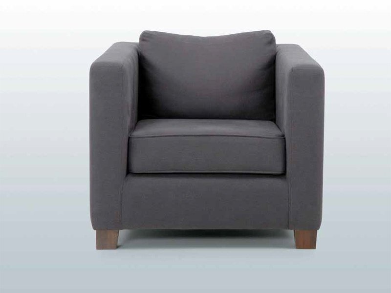 Upholstered armchair with armrests WEDGE ARMCHAIR by INTERNI EDITION