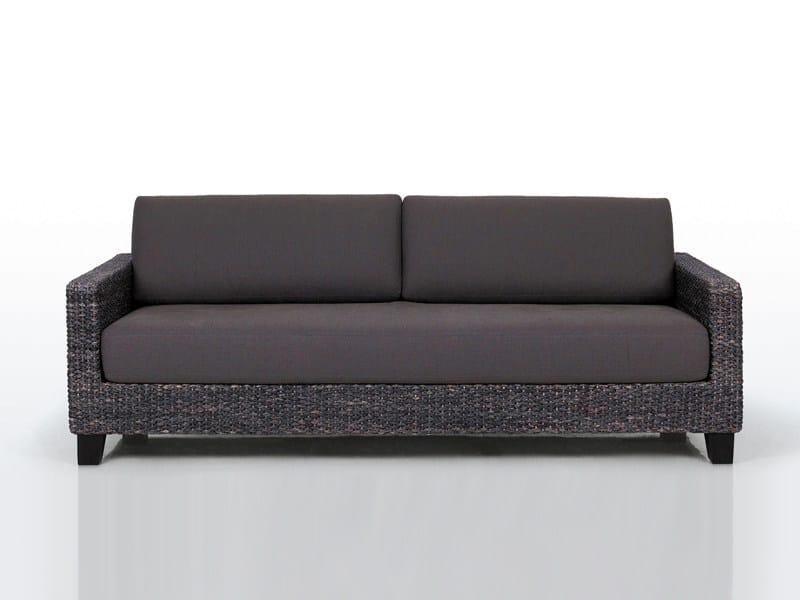 3 seater natural fibre sofa KYOTO by INTERNI EDITION