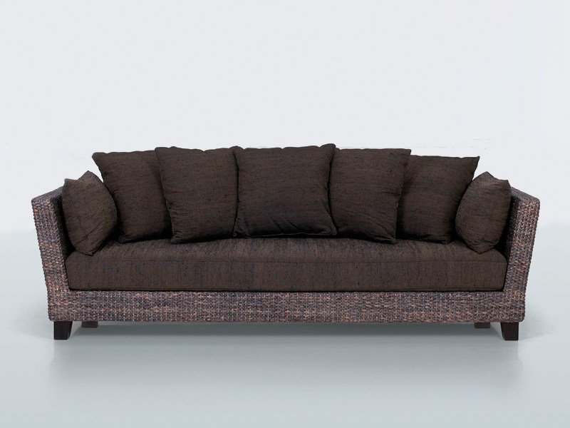 3 seater natural fibre sofa FLORIDE YO by INTERNI EDITION