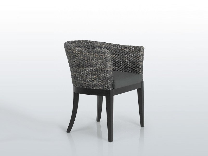 Natural fibre chair with armrests BACKET by INTERNI EDITION