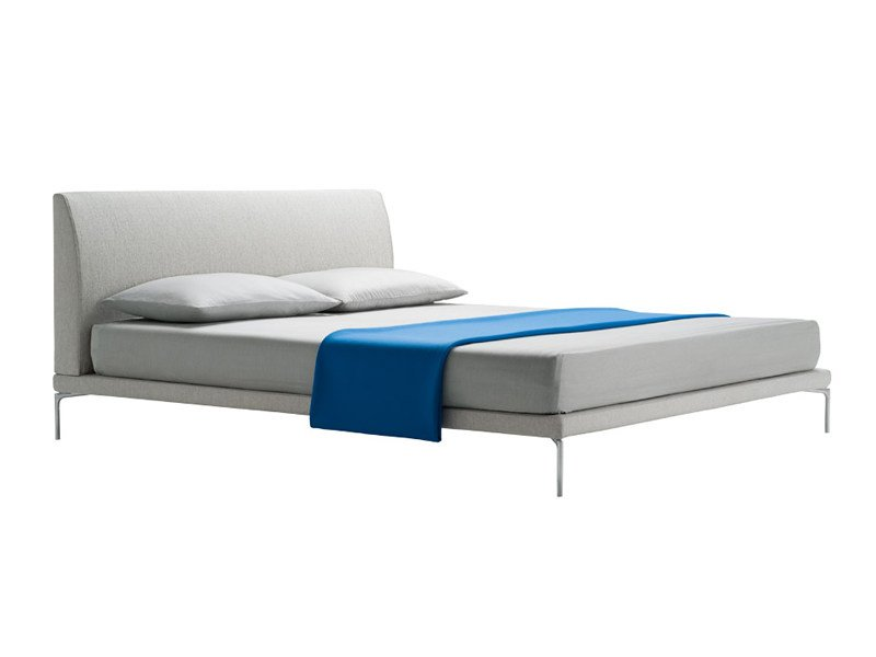Double bed with upholstered headboard TALAMO 1883/1884 by Zanotta