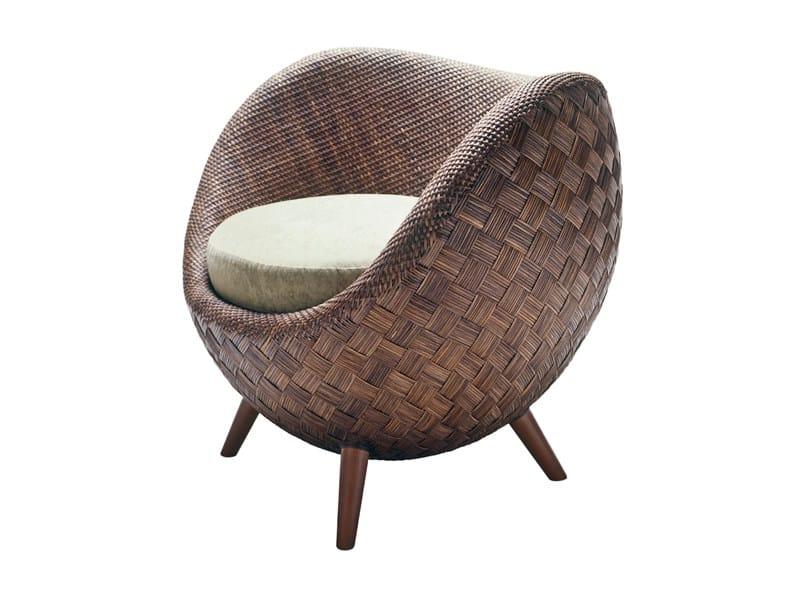 Rattan armchair LA LUNA   Armchair by KENNETH COBONPUE