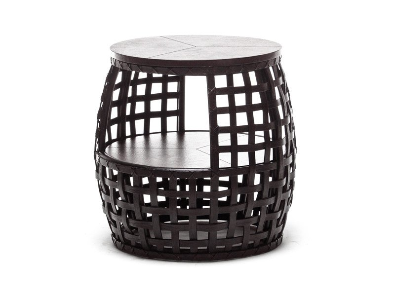 Low round polyethylene coffee table MATILDA | Round coffee table by KENNETH COBONPUE