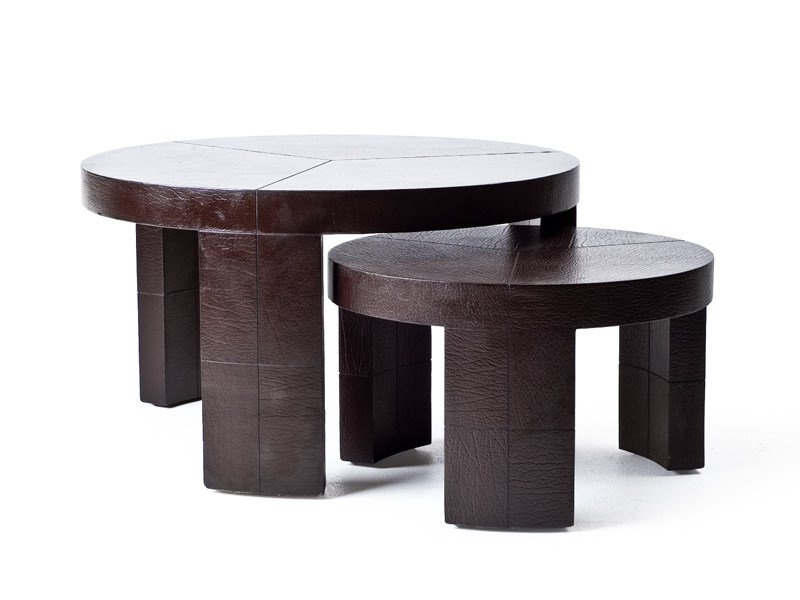 Leather coffee table NOBU by KENNETH COBONPUE