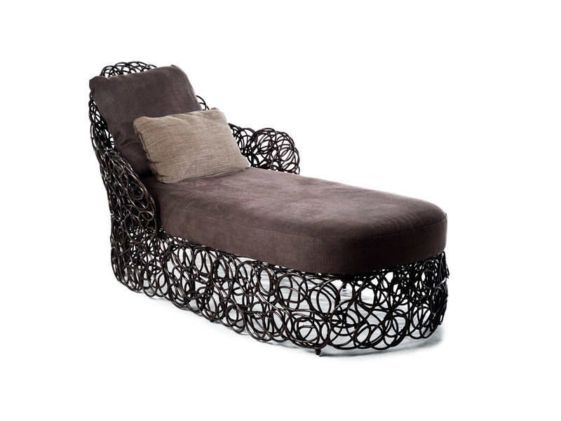 Rattan lounge chair NOODLE | Lounge chair by KENNETH COBONPUE