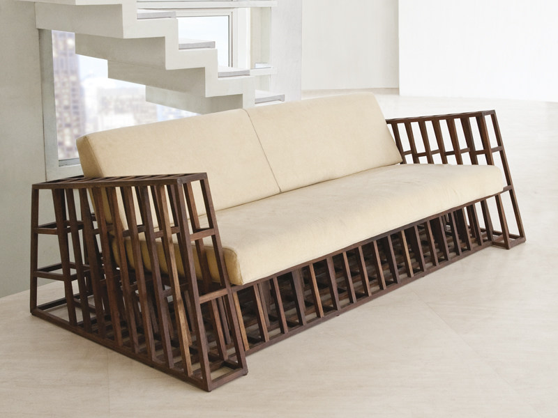 holz sofa affordable samtsofa gamble sitzer with holz. Black Bedroom Furniture Sets. Home Design Ideas