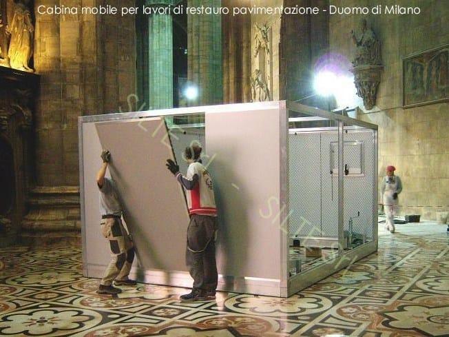 FLEXIFON cabina per restauro pavimentazione - Duomo di Milano