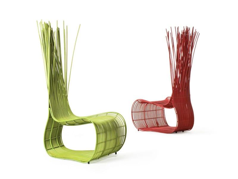 Ergonomic armchair with headrest YODA | Armchair by KENNETH COBONPUE
