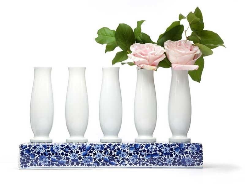 Vaso in ceramica DELFT BLUE 5 by moooi