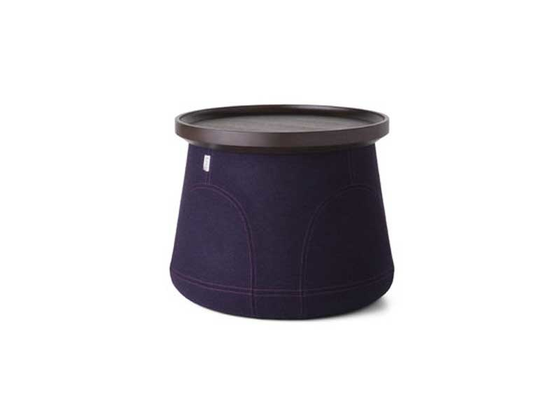 Upholstered polypropylene stool ELEMENTS 006 by moooi