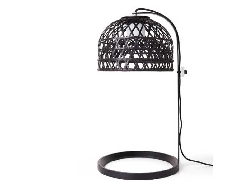 Bamboo table lamp with fixed arm EMPEROR TABLE LAMP by moooi